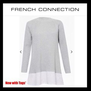 NWT French Connection Sweater Size Small Grey